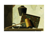 Still life with Notebook and Pipe Giclee Print by John Frederick Peto