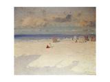 A Beach Scene Giclee Print by Eliseo Meifren y Roig
