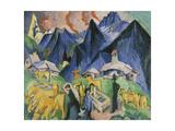Alpleben, Triptych Poster by Ernst Ludwig Kirchner