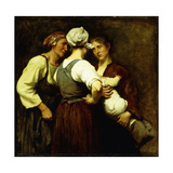 Among Neighbours Giclee Print by Elizabeth		 Nourse