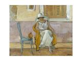 Woman in a White Dress Giclee Print by Henri Lebasque