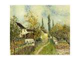 A Path to Sablon Print by Alfred		 Sisley