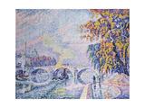 Pont Royal, Autumn Reproduction procédé giclée par Paul Signac