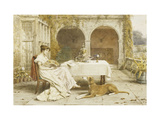 Faithful Friend at Tea Time Print by George Goodwin		 Kilburne