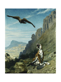 Tiger and Vulture Giclee Print by Jean Leon		 Gerome
