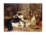 The Foster Mother Premium Giclee Print by Walter		 Hunt