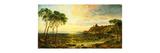 Sunset over Lake Thrasemine Premium Giclee Print by Jasper Francis Cropsey