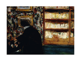 Monsieur Natanson in the Library (Natansan in his office at the White Review) Giclee Print by Edouard		 Vuillard