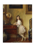 Miss Annie Harmsworth in an Interior Giclee Print by Sir William		 Orpen