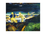 Tending the Lobster Traps, Early Morning Posters by George Wesley		 Bellows