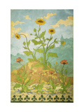 Sunflowers and Poppies Giclee Print by Paul Ranson