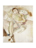 Bobette Lying Down Giclee Print by Jules Pascin