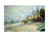 The Beach at Trouville Giclee Print by Claude Monet