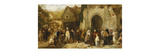 The Statute Fair Premium Giclee Print by George Bernard		 O'Neill