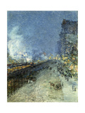 The El, New York Prints by Frederick Childe		 Hassam