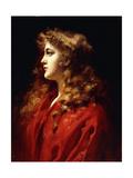 A Golden Haired Beauty Giclee Print by Leopold Schmutzler