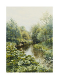 Summerday at the Stream Premium Giclee Print by Peder Mork Monsted