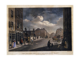 View from Capel Street, looking over Essex Bridge, Dublin Prints by James		 Malton