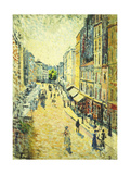 A Street in Abbesses Poster by Maximilien		 Luce