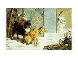 Playful Friends Giclée-Druck von Charles Van Den Eycken