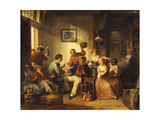 Travellers Resting in a Tavern Giclee Print by Frederick Trevelyan		 Goodall
