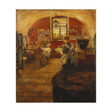 In the Kitchen Giclee Print by Erich		 Korner