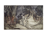 The Meeting of Oberon and Titania Print by Arthur		 Rackham