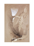 The Triumphal Arch crossing the Ravine leading to Petra Giclee Print by David		 Roberts