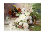 A Still Life with Autumn Flowers Giclee Print by Eugene Henri Cauchois