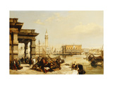 View of St. Marks from the Punta Della Dogana, Venice Art by Edward		 Pritchett