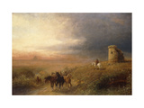 Sunset in Campagna Giclee Print by Albert		 Arnz