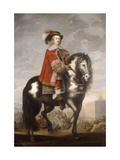 An Equestrian Portrait of Cardinal Infante Fernando de Borbon, Governor of the Spanish Netherlands Giclee Print by  School of Madrid