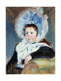 Dorothy in a Very Large Bonnet and a Dark Coat Art by Mary Cassatt