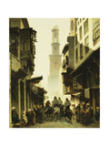 Street Scene in Damascus Prints by Alberto		 Pasini
