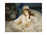 Waking Up Giclee Print by Pierre Carrier-Belleuse