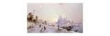 Santa Maria della Salute, Venice Premium Giclee Print by Franz Richard Unterberger
