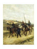 A Cavalry Officer and Dragoons Giclee Print by Jean Baptiste Edouard		 Detaille