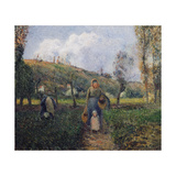Peasant and Child Returning from the Fields, Pontoise Posters by Camille Pissarro