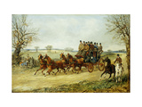 The York to London Royal Mail on the Open Road in Winter Art by Henry Thomas Alken