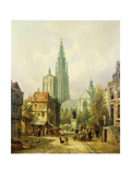 A View of Antwerp Prints by Pieter Cornelis		 Dommershuijzen