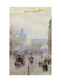 A Street in London Giclee Print by Rose Maynard		 Barton