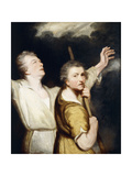 Portrait of the Artist and Thomas Jervais as Adoring Shepherds Posters by Sir Joshua Reynolds