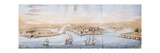A Bird's Eye View of Valetta from the Sea, with Men-o-War entering the Harbour Premium Giclee Print