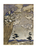 An Illustration to Rip van Winkle: 'They Were Ruled by an Old Squaw Spirit Giclee Print by Arthur		 Rackham