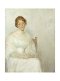 Lady in White Giclee Print by Lockwood Wilton
