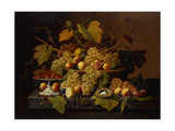 Still Life with Fruit Print by Severin Roesen
