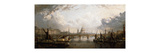 The Thames from Hungerford Bridge Premium Giclee Print by John MacVicar Anderson