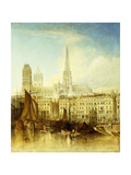 The Quay at Rouen Giclee Print by Henshall J.