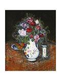 Vase of Flowers and Bowl of Fruit Prints by Gustave		 Loiseau