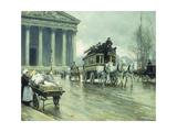 Le Boulevard a La Madeleine, Paris Giclee Print by Paul Fischer